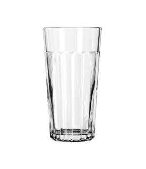 "Tumbler, 20 oz., glass, paneled, DuraTuff®, (H 6-5/8""; T 3-5/8""; B 2-5/8""; D 3-5"