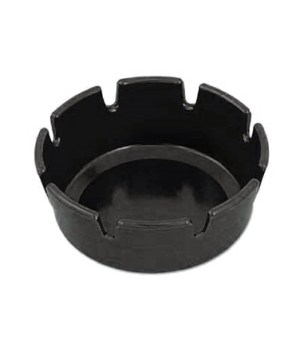"Bakelite® Ashtray, 4-1/4"" x 1-5/8"", 8 notches, break, heat & stain resistant, b"