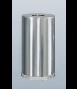 "Designer Line Metallic Waste Receptacle, 15 gallon, 15"" dia. x 28""H, open top, s"