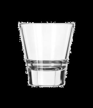 "Espresso Glass, 3.70 oz., DuraTuff®, Endeavor™ (H 3""; T 2-3/4""; B 1-3/4""; D 2-3/"