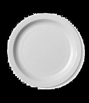 "Camwear® Plate, narrow rim, 7-1/4"", lightweight polycarbonate, non-porous surfac"