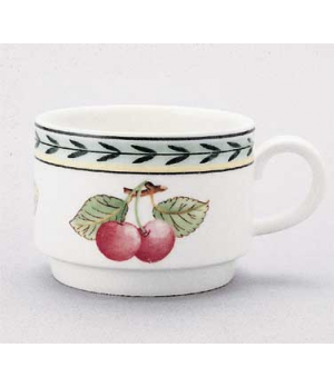 Cup #8, 3-1/2 oz., stackable, premium porcelain, French Garden-Dampierre (Specia