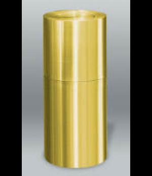 Designer Line Aluminum Waste Receptacle, 15 gallon, flip top, aluminum construct