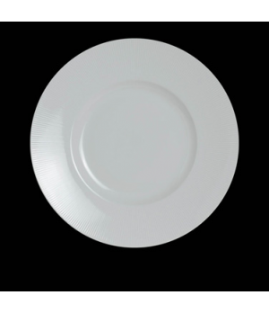 "Signature Plate, 12"" dia. (7"" well), round, porcelain, Sonata, Rene Ozorio (pric"