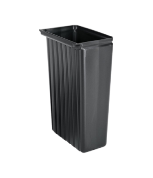 Trash Container, 8 gallon, for KD service cart, black