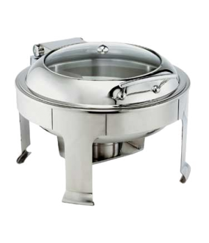 Symphony Chafer, 7 qt., round, self-closing cover with glass view, stainless ste