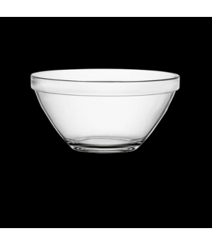 "Bowl, 3-1/4 oz., 3-1/4"" x 1-3/4"", round, stackable, tempered, glass, clear, Borm"