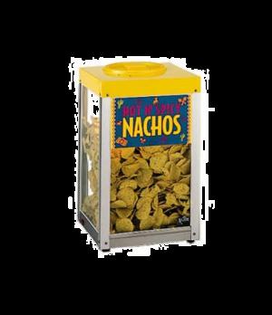 "Nacho/Chip/Popcorn Merchandiser, 15""Lx15""Dx26""H, approximately 10 lb. capacity,"