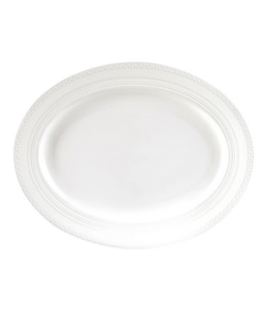 "Intaglio Platter, 15"", dishwasher safe, bone china, white (priced per case, pack"