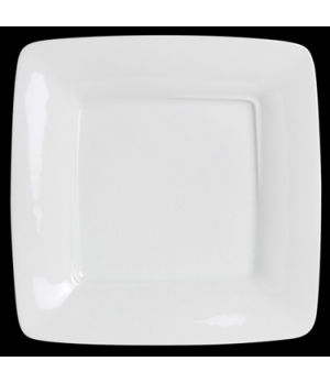 "Plate, 6-1/2"", square, wide rim, porcelain, Crucial Detail (USA stock item) (min"