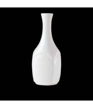 Bud Vase, Distinction, Bianco, Noir (UK stock item) (minimum = case quantity)