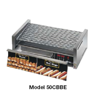 Star Grill-Max Pro® Hot Dog Grill, roller-type, built-in unheated bun drawer, Du