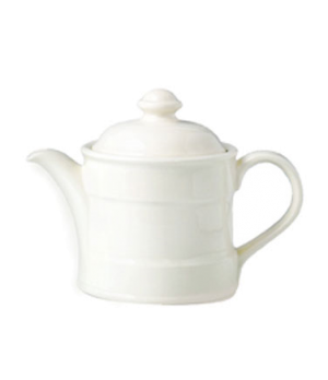 Teapot, 15 oz., Lid 2, vitrified china, Performance, Ivory, Claret (priced per c