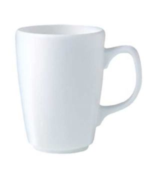 Mug, 8-1/2 oz., Distinction, Bianco, Noir (UK stock item) (minimum = case quanti