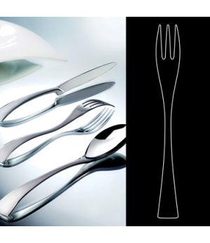 "Cake Fork, 6"", stainless steel, La Tavola, New Wave (USA stock item) (minimum ="