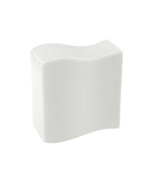 "Salt Shaker, 2-3/4"" x 1-5/8"", premium porcelain, New Wave"