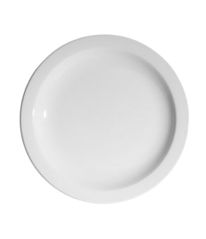 "Blanco Plate, 10-3/4"" (27 cm), round, narrow rim, scratch resistant, oven & micr"