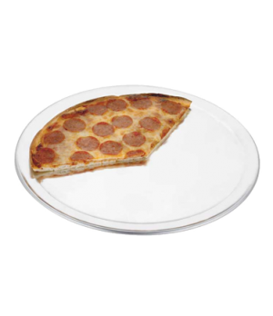 "THERMALLOY® Pizza Pan, 12"" dia., wide rim, beaded edge, 1.0 mm thickness, 18 ga"