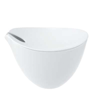 "Bowl, 9-7/8"" x 9"", 101 oz., covered, premium porcelain, Flow"