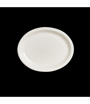 "Platter, 13-1/2"" x 10-3/4"", oval, narrow rim, Anfora, American Basics (USA stock"
