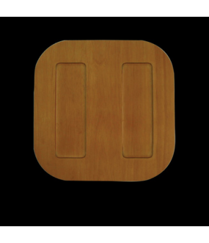 """Wooden Charger, 11-7/8"""" dia., round, light, Performance, Taste (special order it"""