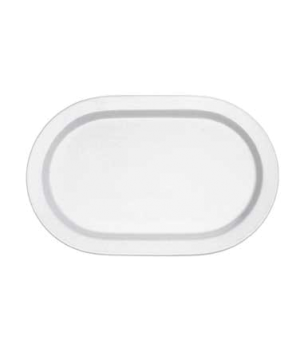 "Pickle Dish/Plate, 8-1/4"" x 5-7/8"", small, oval,  premium porcelain, Easy White"