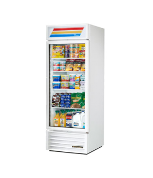 Refrigerated Merchandiser, one-section, (4) shelves, white exterior, trim, and w
