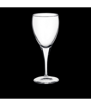 Goblet Glass, 11-1/2 oz., pulled stem, Bormioli, Fiore (USA stock item) (minimum