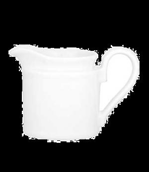 Creamer #4, 6-3/4 oz., premium porcelain, Millenia Bianca