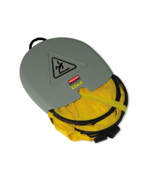 Safety Cone, International Wet Floor symbol, folding, yellow