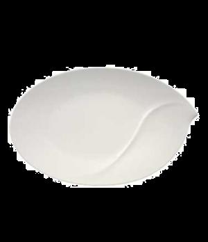 """Platter, 18-1/2"""" x 11-3/8"""", oval, premium porcelain, Flow"""