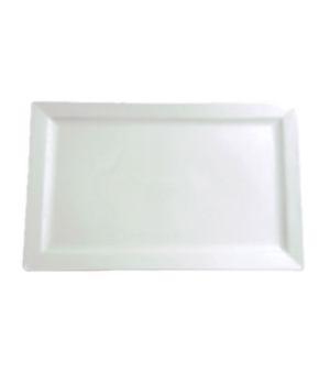 "Platter, 17"" x 10-3/4"" (43 cm x 28 cm), rectangle, coupe, Le Buffet, white"