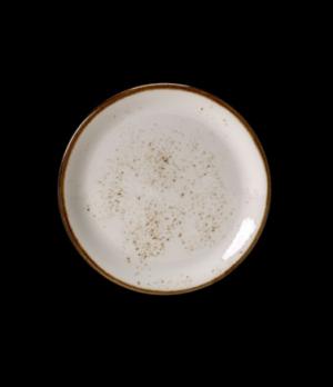 "Plate, 6"" dia., round, coupe, freezer/microwave/dishwasher safe, lifetime edge c"