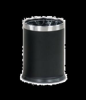 """Steel Wastebasket, 3-1/2 gallon, 9-1/2"""" dia. x 12-1/2"""" H, open top, black, UL, A"""