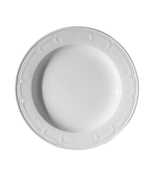 "Plate, 9"" (23 cm), round, wide rim, scratch resistant, oven & microwave safe, di"