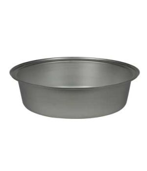 "Food Pan, 6 qt., 2-1/2"" deep, for round Canyon chafer, stainless steel, Brand De"
