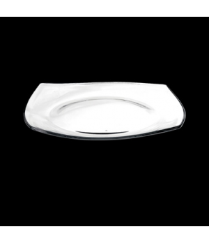 "Dinner Plate, 10-5/8"", square, tempered, glass, Bormioli, Eclissi (limited avail"