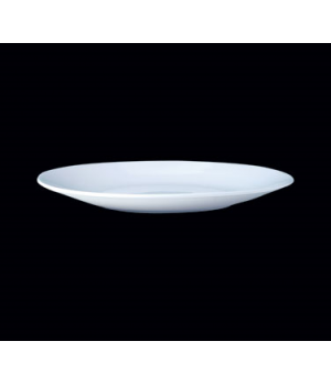 "Plate, 10"" dia., round, coupe, Distinction, Contour, Monaco White (Canada stock"