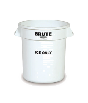 """BRUTE® """"ICE ONLY"""" Container, 10 gallon capacity, all plastic construction with n"""