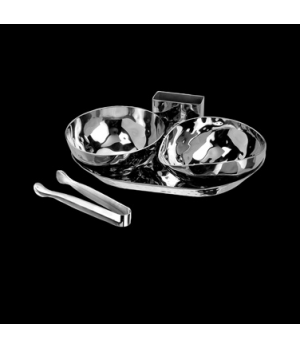 "Condiment Set, 5 piece, 8"" x 5-1/2"" x 2-1/2"", 18/10 stainless steel, WNK Accesso"