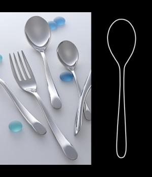 "Table Spoon, 8"", 18/10 stainless steel, WNK, Harlan (USA stock item) (minimum ="