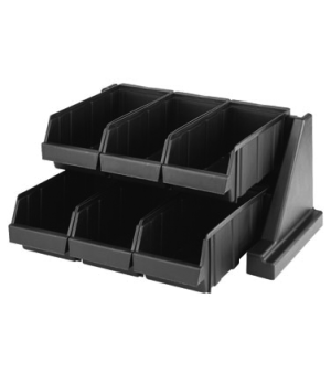 "Organizer Rack, with 6 bins, 20-1/8""L x 17-1/4""D x 9-1/4""H, can be wall-mounted"