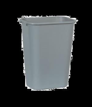 "Waste Basket, 41-1/4 qt., 15-1/4""W x 11""D x 19-7/8""H, medium, soft, rolled rims,"