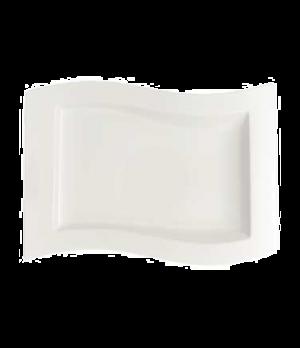 "Gourmet Plate, 13"" x 9-1/2"", premium porcelain, New Wave"