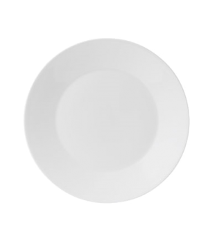 "Jasper Conran Dinner Plate, 11"" dia., round, wide rim, dishwasher safe, bone chi"
