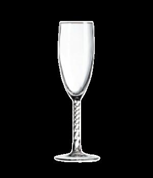 """Flute Glass, 5-3/4 oz., glass, Marque Du Client, Angelique, (H 8-3/16""""; M 2-3/16"""