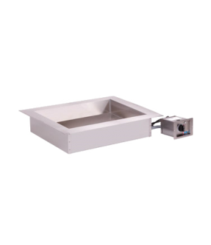 """Halo Heat® Hot Food Well Unit with large flange, Drop-In, Electric, (2) 12"""" x 20"""