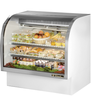 "Curved Glass Deli Case, 48-1/4""L, service type, self-contained refrigeration, gr"