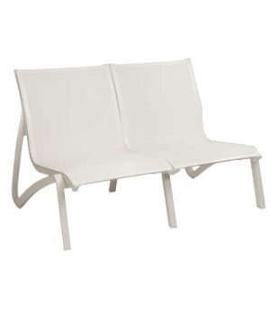 Sunset Love Seat, stackable, without arms, designed for outdoor use, textilene s