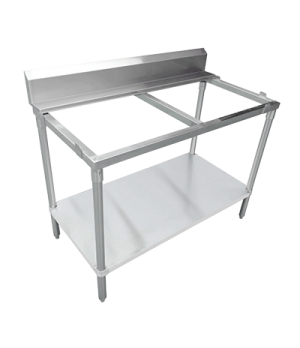 "(40411) Polytop Table Frame, 48""W x 24""D x 36""H, stainless steel frame, undershe"